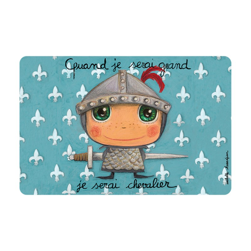 Placemat Knight by Isabelle Kessedjian