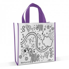 Shopping bag to colour Ados by Marielle Bazard