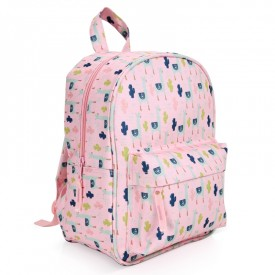 Backpack Lama rose by Label'tour créations