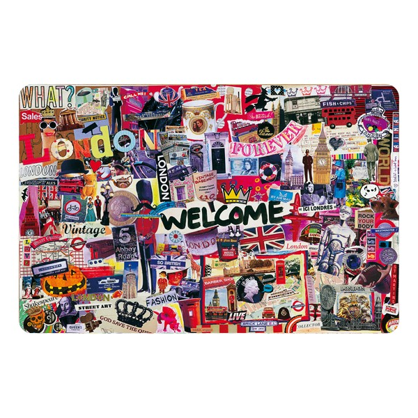 """Welcome"" placemat by Marie-Pierre Denizot"