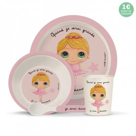 Bamboo kids meal set: Danseuse