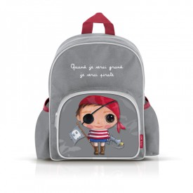 Small backpack with pockets: Quand je serai grand, je serai pirate