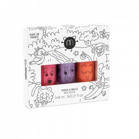 Pack of 3 nail Varnishes - Jungle Nailmatic by Nailmatic Kids