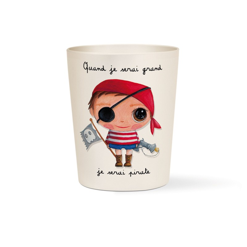 Bamboo cup Pirate by Isabelle Kessedjian