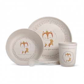 "Bamboo fibre dinner sert ""Fox"" by Les enfants rois"