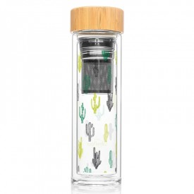 "Infuser bottle ""Cactus"""