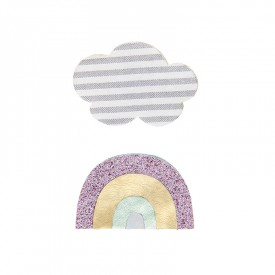 Rainbow and cloud clips by Mimi & Lula