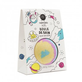 Galaxy bath bomb for a blue bath by Nailmatic Kids
