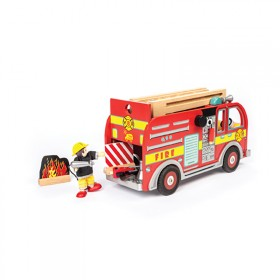 Fire Engine Set with Firefighters