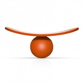 LOL Seat Orange wood by Michel Grasset