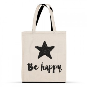 Sac coton : Be happy