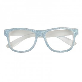 Blue glittery glasses
