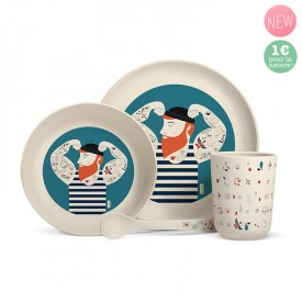 "Bamboo fibre dinner set ""Sailor"" by Zabeil"