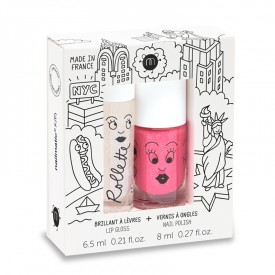 New York - Rollette Nail Polish Duo Set by Nailmatic Kids