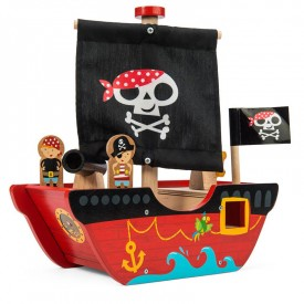 Liitle capt'n Pirate boat by Le toy van