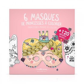 "Pouch of 6 masks to color ""Princesses"""