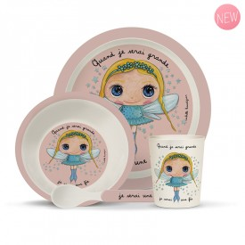 Bamboo kids meal set: Fée by Isabelle Kessedjian