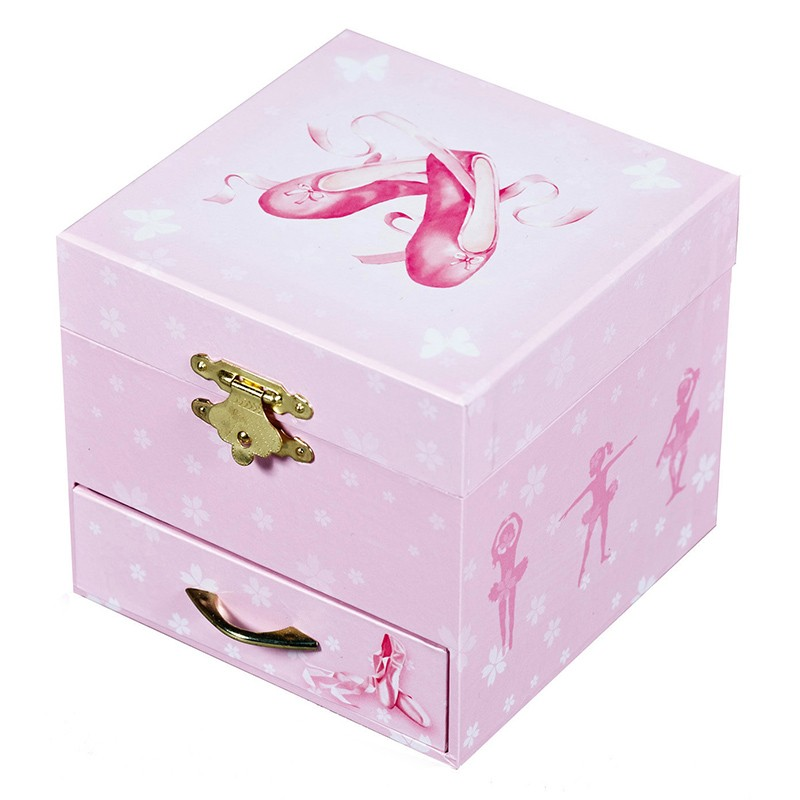 Coffret musical cube Chaussons ballerine - by Trousselier