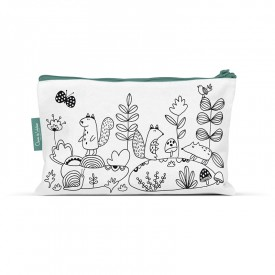 Coloring pencil case Magical forest