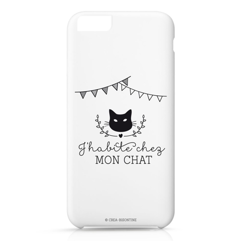 Iphone case 6 : J'habite chez mon chat by Créa bisontine