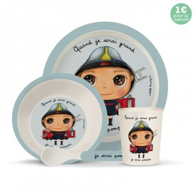 Bambou dinner set: Fireman